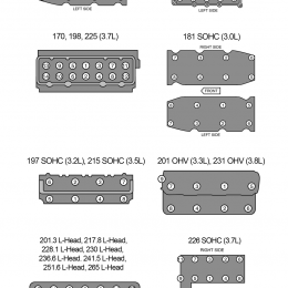 Infographic: Cylinder Head Torque Sequences for Chrysler I6 & V6 Engines