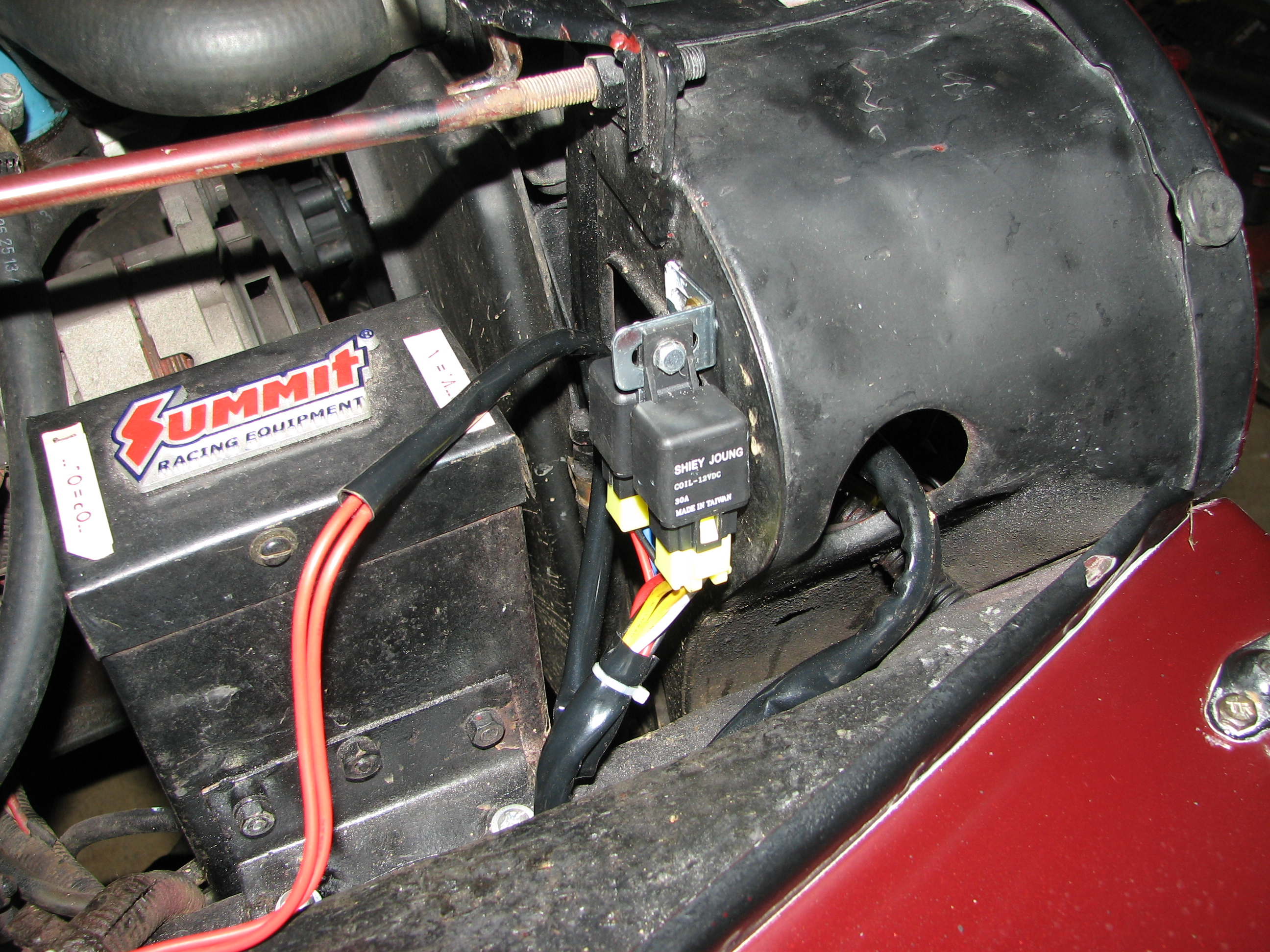 How To Upgrade Dim Headlights With A Headlight Relay Mod Electrical Wiring Made Easy This Is Where We Mounted Our Relays Oriented Them Vertically And Placed Out Of The Way Water Theyre Also Reach In Case Need