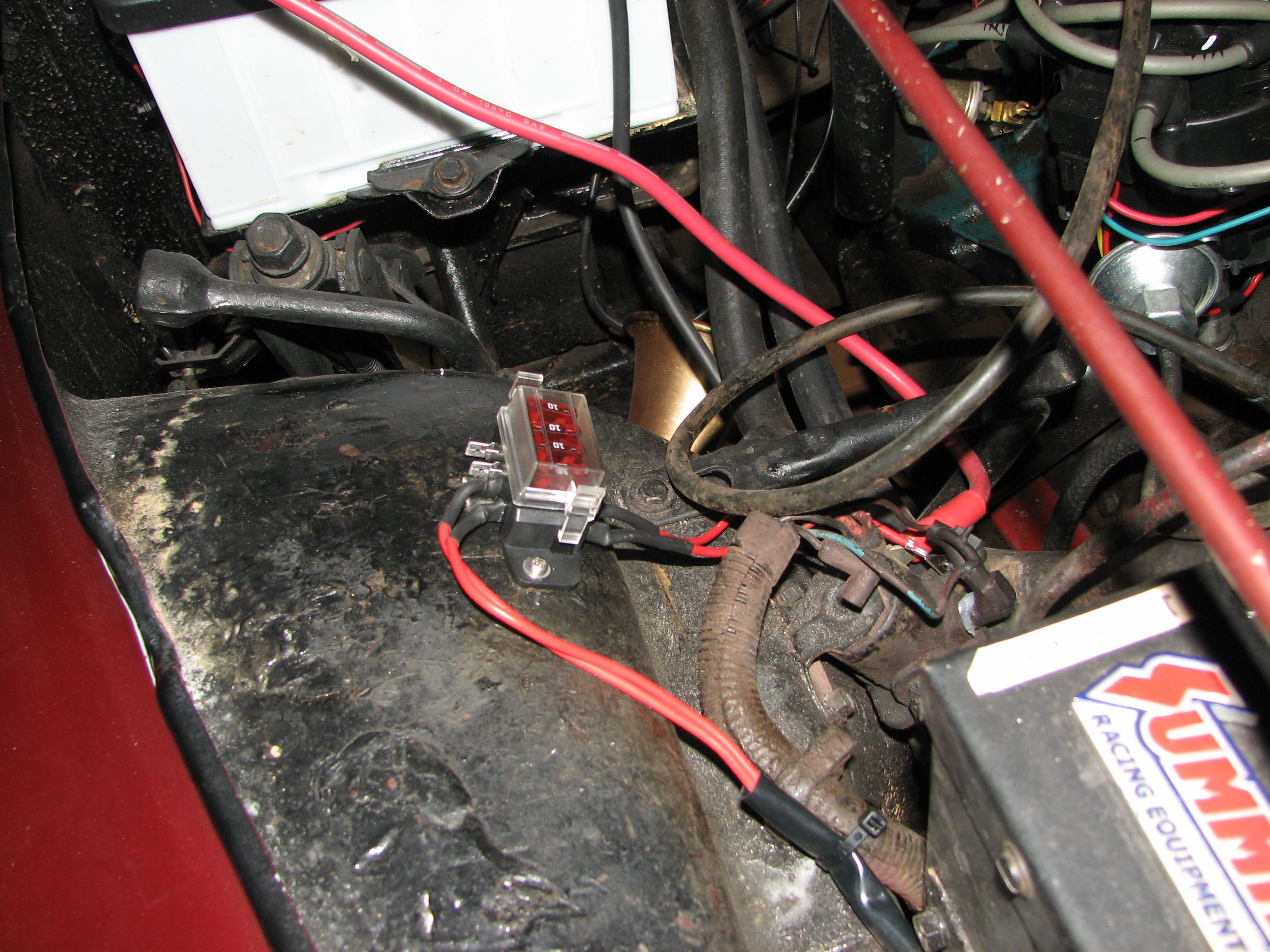 How To Upgrade Dim Headlights With A Headlight Relay Mod Terminal Crimp There Is An Ongoing Argument On Whether Its Better Solder Or These Types Of Connections We Chose Because Could Feed The Wire Through