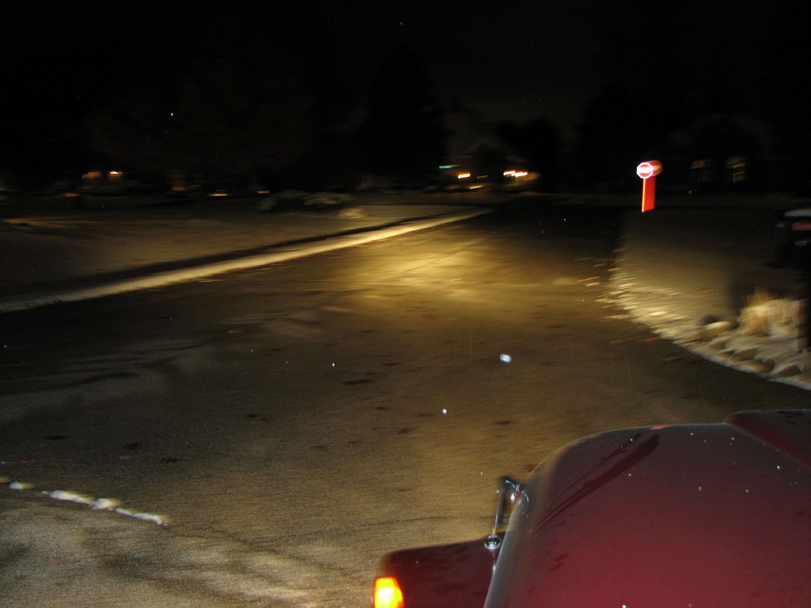 How To Upgrade Dim Headlights With A Headlight Relay Mod Jeep Cj Harness You Can See That The Now Easily Illuminate Cross Street About 50 Yards Ahead For Of This Vintage