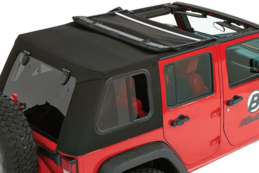 Captivating Video: Installing A Bestop Trektop Pro Hybrid Soft Top On A Jeep Wrangler  JK   OnAllCylinders