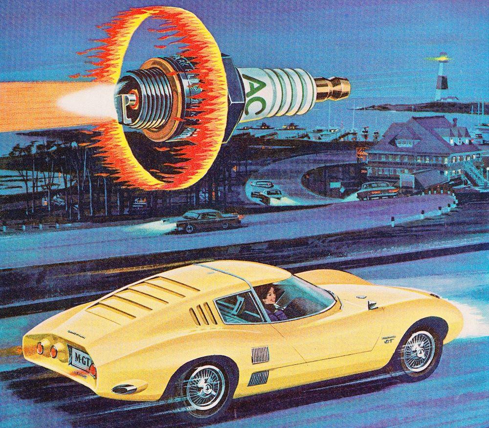 vintage AC spark plugs ad