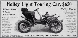 Holley Light Touring Car newspaper ad