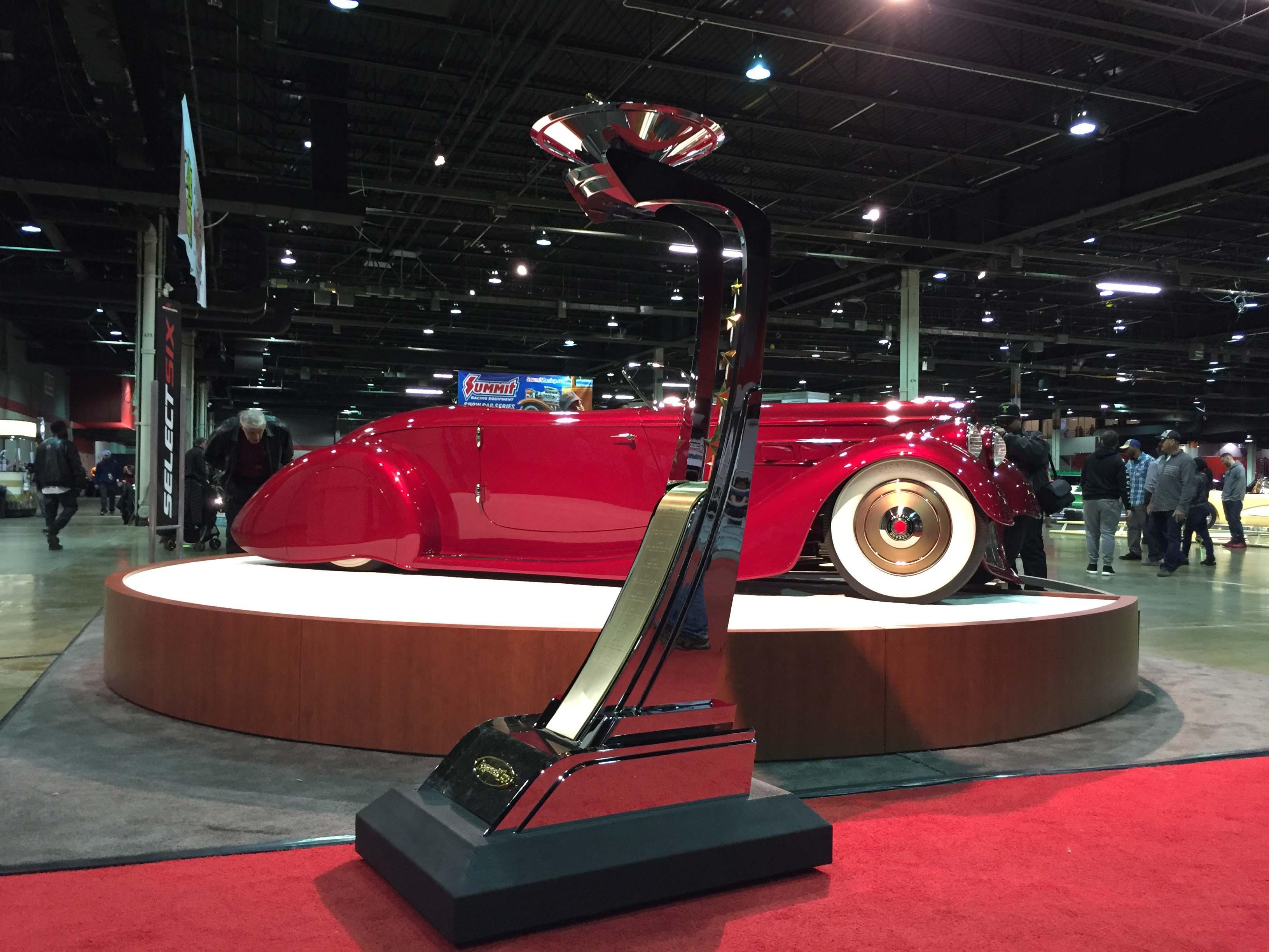 Legend Cup winner 1936 Packard 2017 Chicago World of Wheels