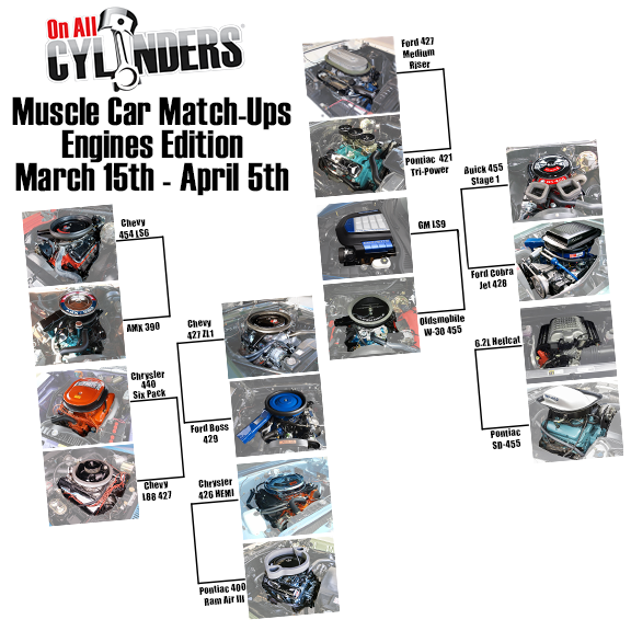 Vote Now in Our 2017 Muscle Car Match-Ups (Engine Edition