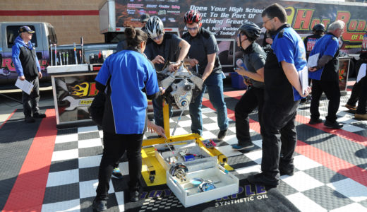 High school teams will once again compete in the Hot Rodders of Tomorrow Engine Challenge at Summit Racing's Atlanta Motorama at the Atlanta Motor Speedway, April 22-23.