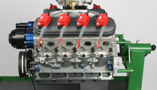 The completed engine, ready for dyno testing