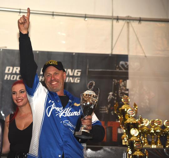 Jimmy Alund FIA European drag racing champion