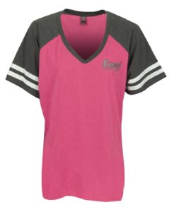 Ladies Summit Racing varsity t-shirt
