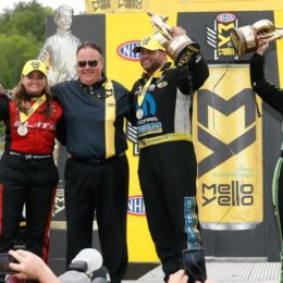 NHRA New England Nationals Winners Circle 2017