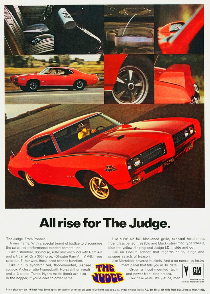 1969 Pontiac GTO the Judge ad