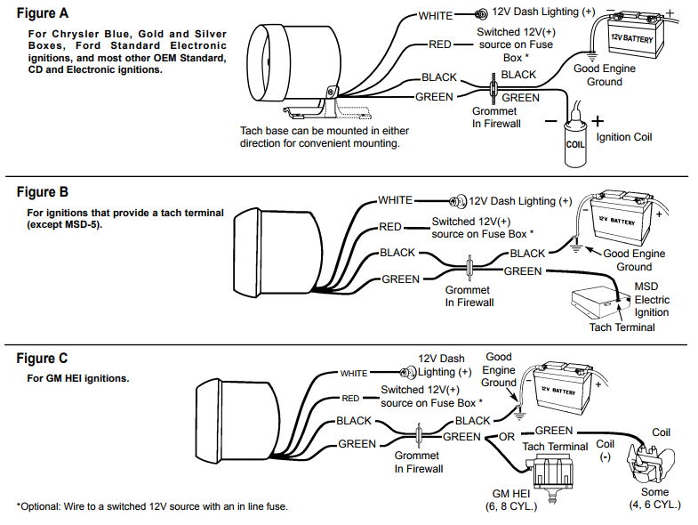 Auto Meter Tach Install Diagrams on Mopar Ignition Wiring Diagram