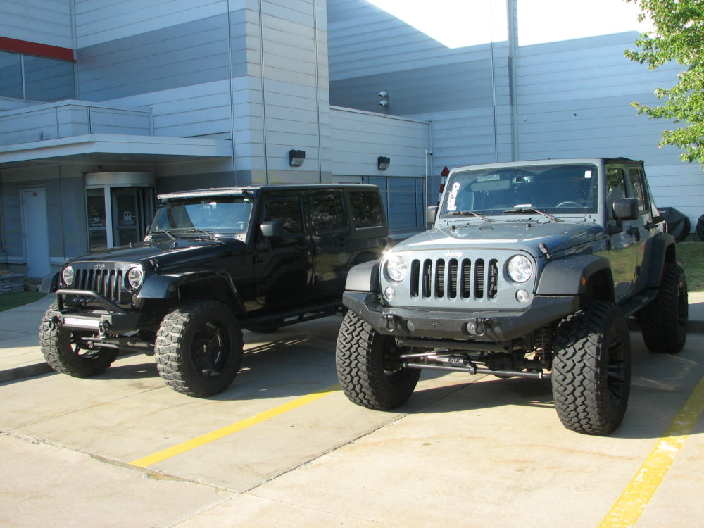 Two Jeep Wrangler JKs
