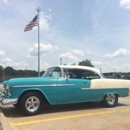 1955 Chevy Bel Air Custom with American Flag