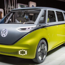 The I.D. Buzz concept debuted in January 2017 at the North American Indoor Auto Show in Detroit, MI. (Image/Car and Driver)
