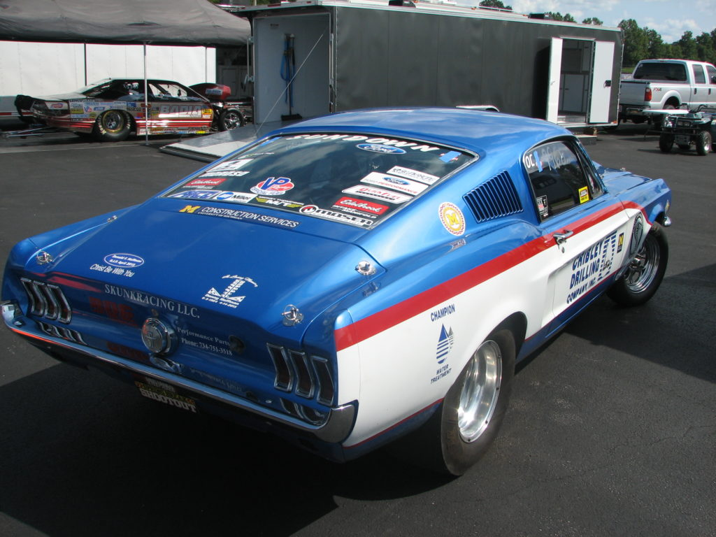 Tom Hoffman's 1968 Ford Mustang Open Comp, Rear