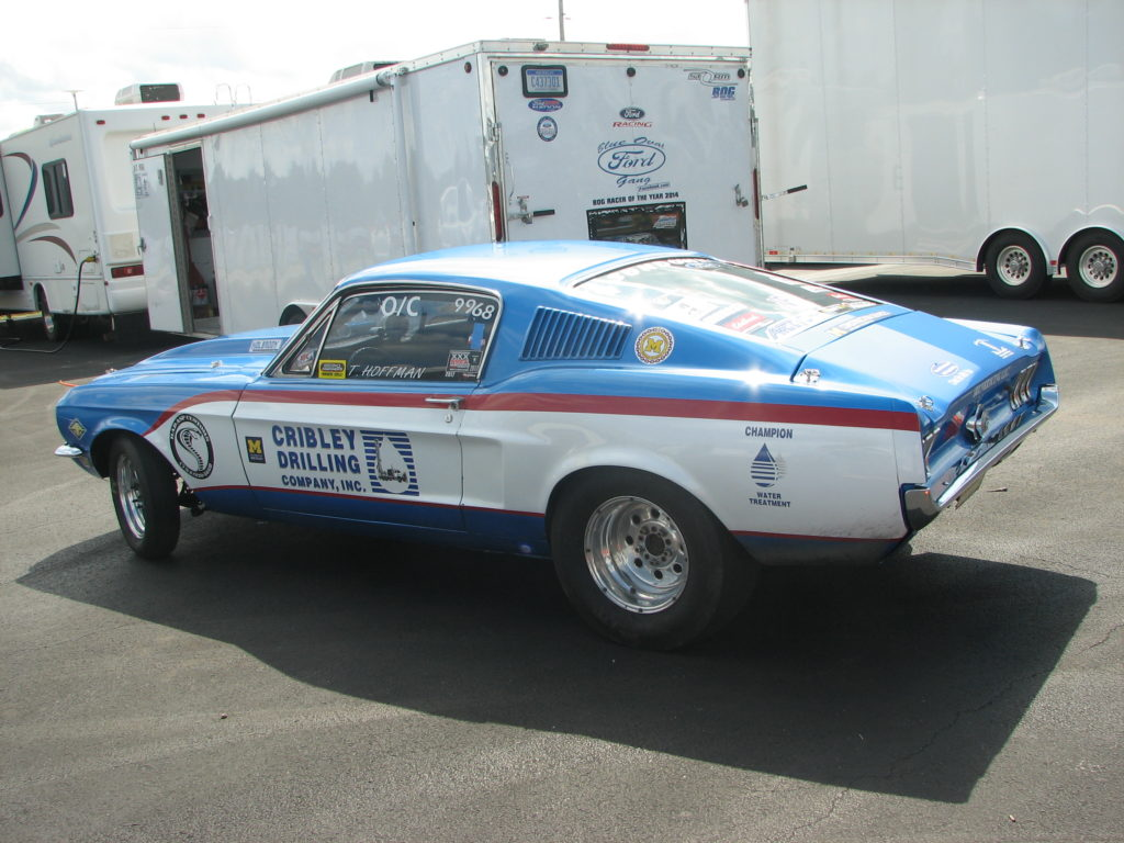 Tom Hoffman's 1968 Ford Mustang Open Comp, Side