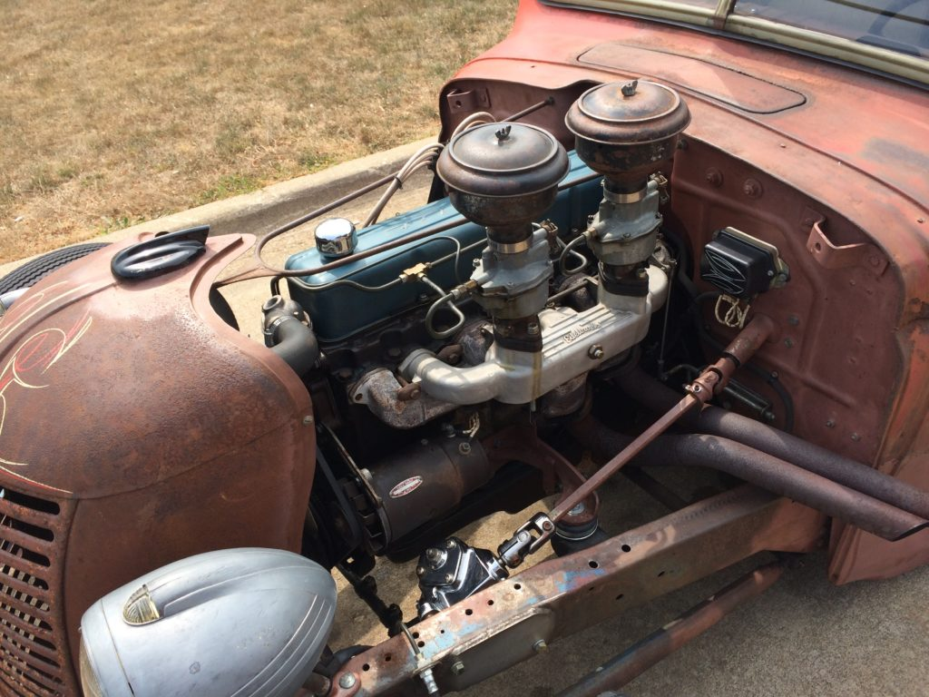 1941 Chevy Pickup Rat Rod with Inline Six Engine