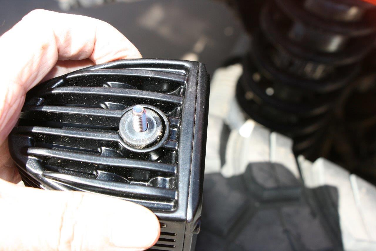 Installing Rigid Industries Auxiliary Led Lights On A Jeep Wrangler Wiring To Mount The Dually Bolt Slides Into Position Along Slot And Then Is Held By Casting While Nut Tightened