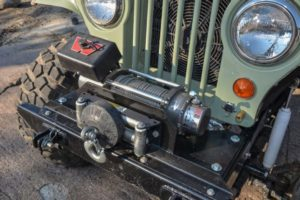 Jeep CJ with WARN Winch