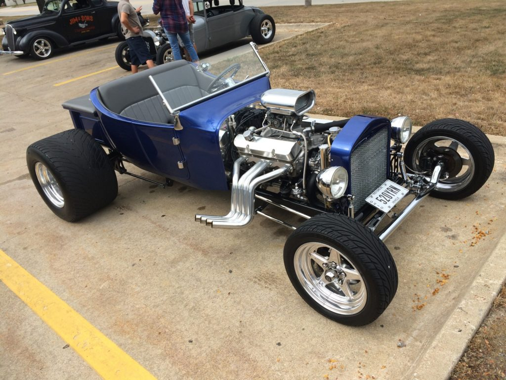 Ford T-Buckets, Blue, Front Passenger Side