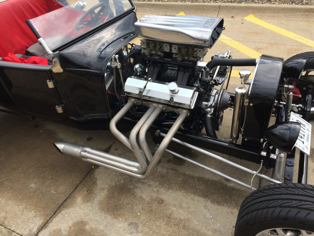 Ford T-Bucket, Black, Engine Passenger Side