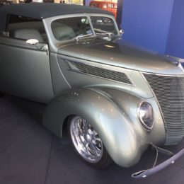 Don Silaff's 1937 Ford Convertible Takes Turntable Spot at Summit Racing Grand Opening