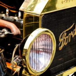 Ford Model T Grille and Headlight, Brass Era