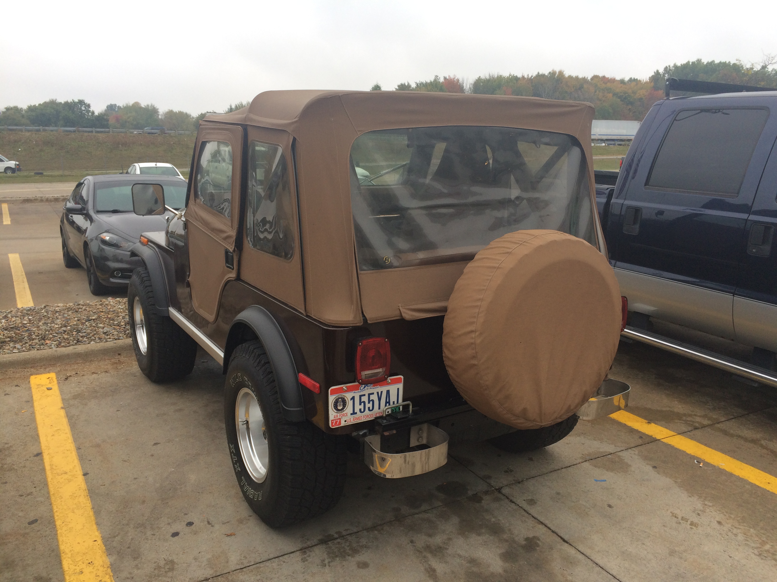1977 Jeep CJ-5, Rear Driver's Side