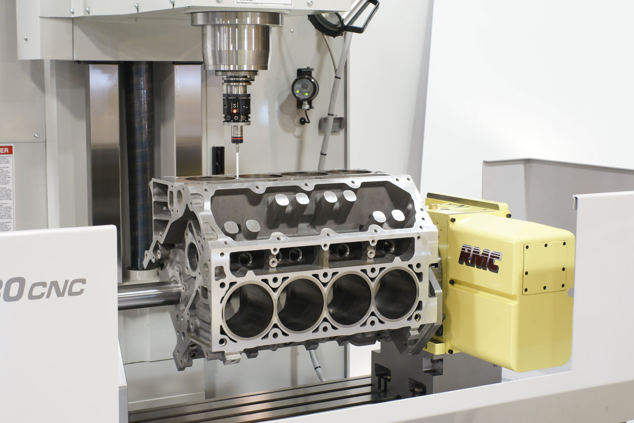 LS1 engine block machining by RMC