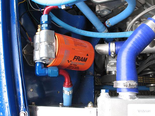 ram Racing Oil Filter in Car