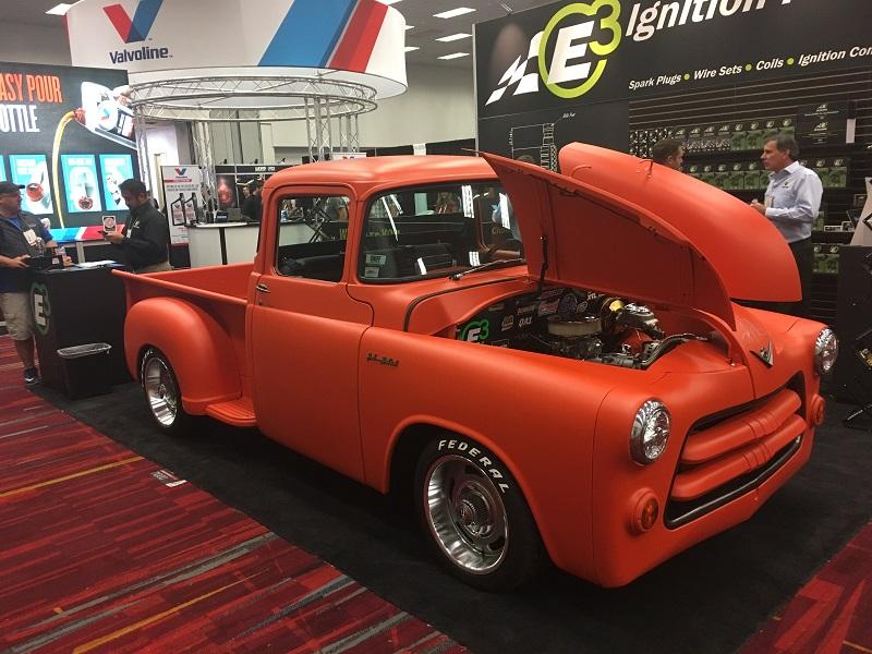 1955 Dodge Truck orange hot rod SEMA 2017