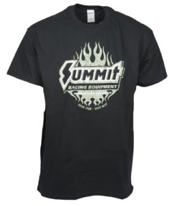 summit racing flamed t-shirt