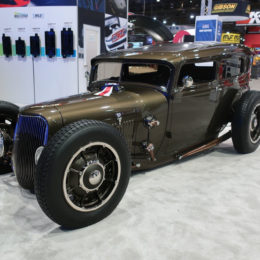 Troy Trepanier's 1929 Model A Ford Tudor hot rod earned Trepanier the 2017 SEMA Battle of the Builders crown. (Image/BangShift)
