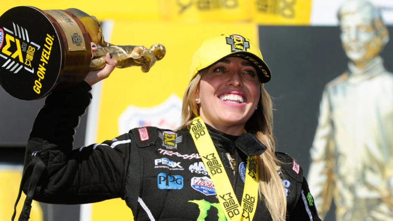Brittany Force Championship Celebration 2017 - USA Today