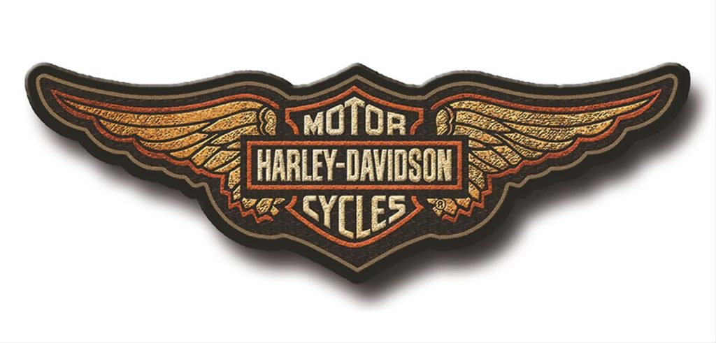 Harley-Davidson Wooden Patch Sign
