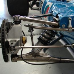 This is the wishbone suspension from a vintage Matra Formula 1 race car. (Image/SurfingDirt.com)