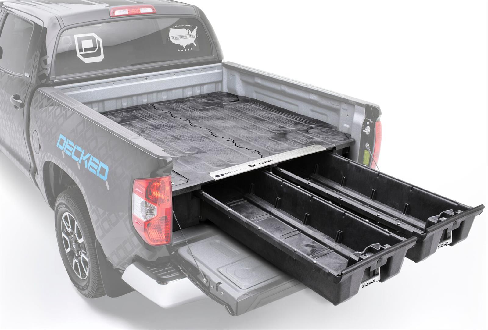 toppers bed features product storage suburban truck decked