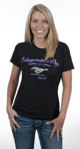 always wanted a pony mustang ladies t-shirt