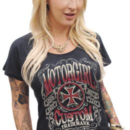 motorgirl custom trademark t-shirt