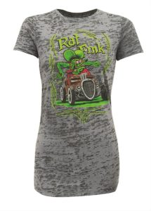rat fink burnout ladies t-shirt