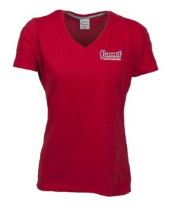 summit racing ladies v-neck t-shirt
