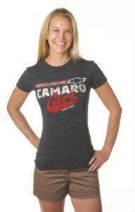 vintage camaro girl t-shirt