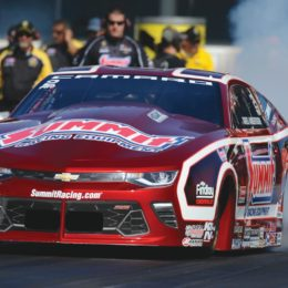 Racer Greg Anderson currently races a Chevy Camaro in the NHRA Pro Stock class. New rules allow will give him more body and engine options. (Image/Summit Racing)