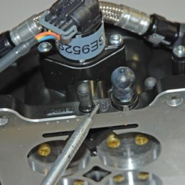 There are three vacuum ports on the Sniper throttle body: The large one is for power brakes while the other two are for manifold vacuum or ported vacuum. (Image/Wayne Scraba)