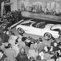 The introduction of the Corvette in 1953 was juts one of many high points of the 1950s.  (Image/GM Corporate Newsroom)