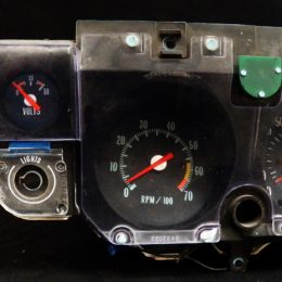 Here's a Shiftworks Replacement Voltmeter retrofitted in a  second-gen Chevelle gauge cluster. (Image/Shiftworks)