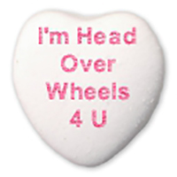 Say Happy Valentine's Day with Gearhead Candy Hearts