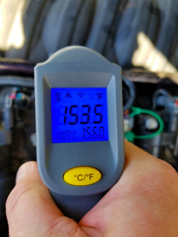 fuel rail temp reading