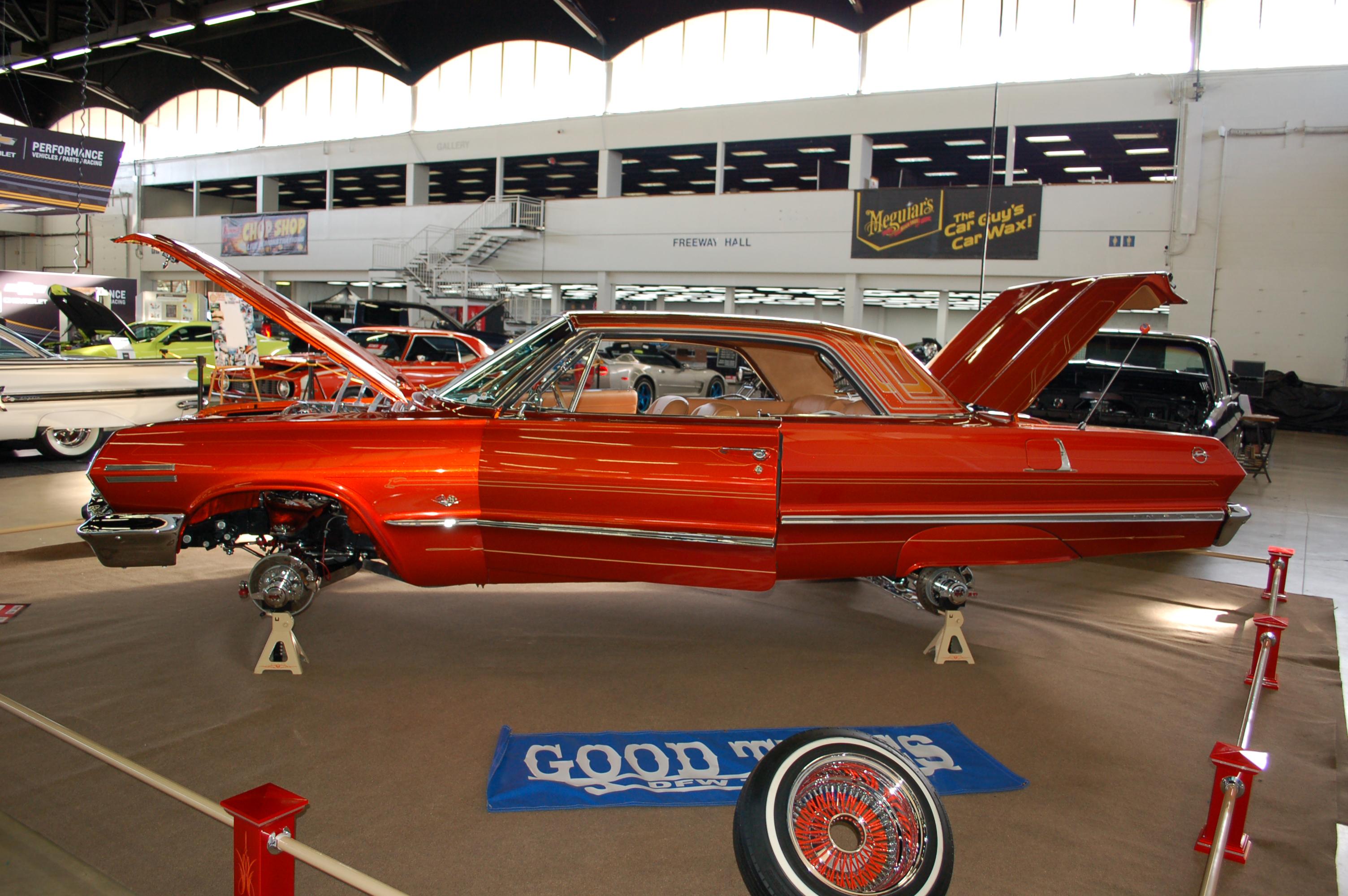 Dallas-AutoRama-Custom-Impala-On-Frame